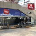 Beklebung Schaufenster Stuttgart, Schaufensterfläche Flughafen