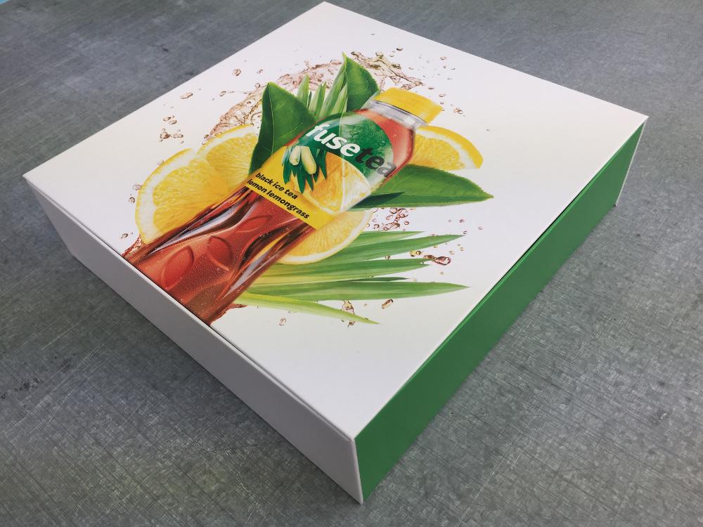Musterboxen für Fusetea / Pappe / Digitaldruck