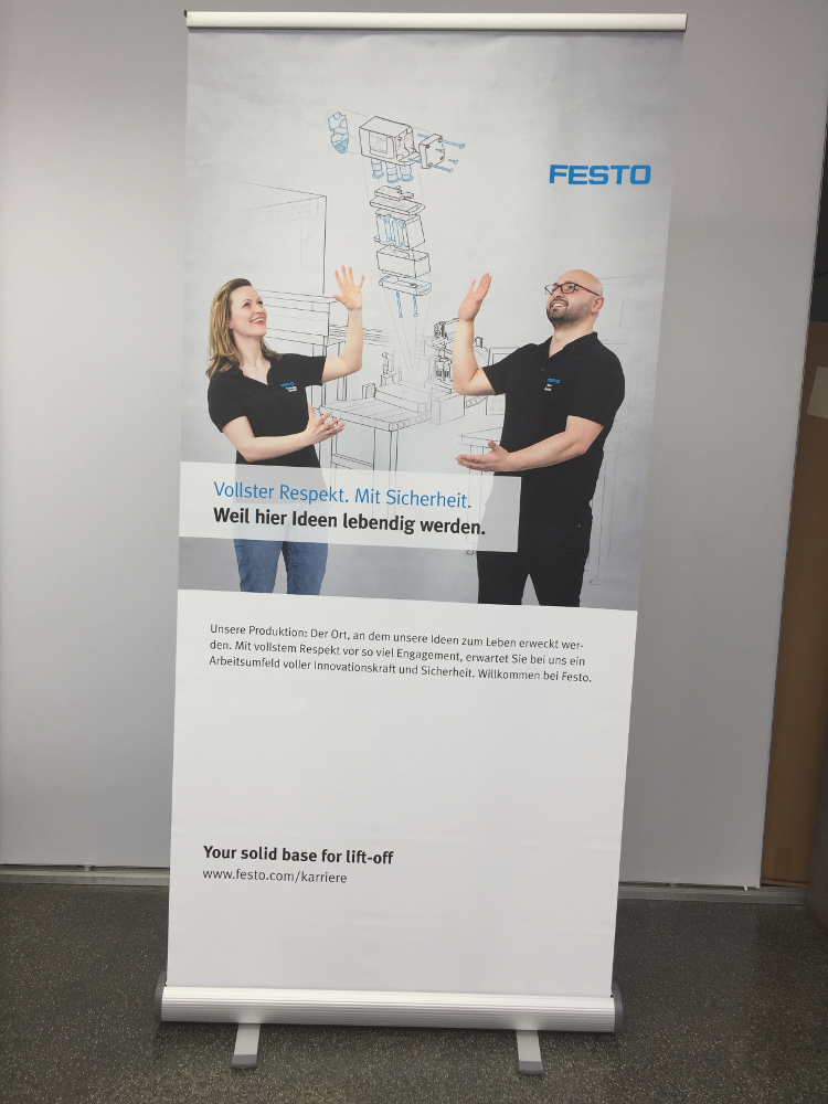Roll Up Festo - mobile Messesysteme