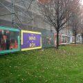 Bauzaun Banner Stuttgart Staatsgalerie
