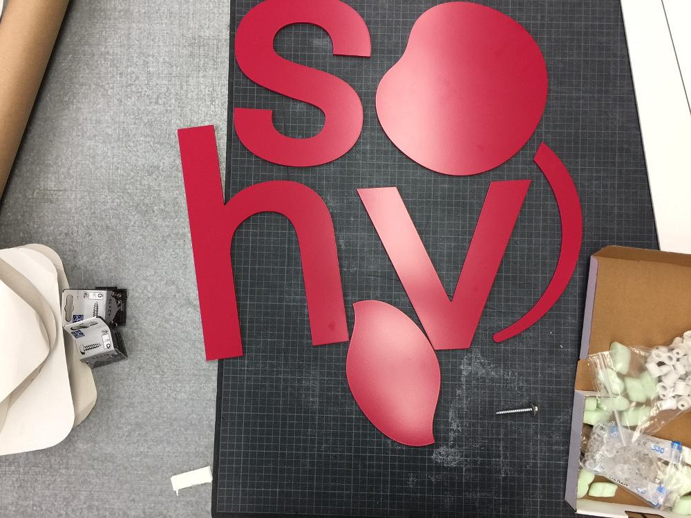 Werbetechnik 3D Buchstaben VHS
